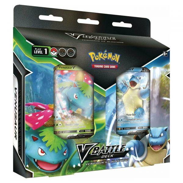 Pokemon-Battle-V-deck-Venusaur-VS-Blastoise