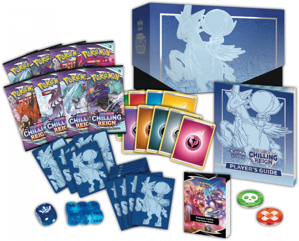 Pokemon-Trading-Card-Game-Sword-and-Shield-Chilling-Reign-Elite-Trainer-Box-Open-1