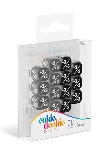 Oakie-Doakie-Dice-12-mm-D6-14-Positive-Negative-Black