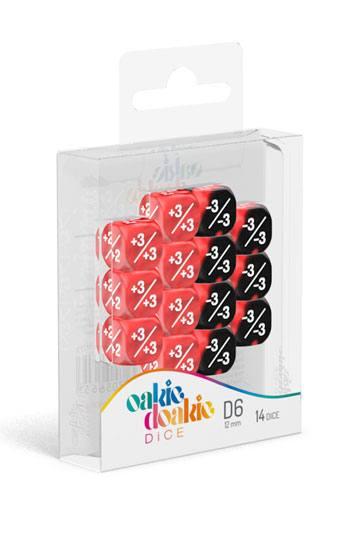 Oakie-Doakie-Dice-12-mm-D6-14-Positive-Negative-Red