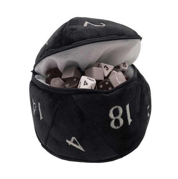 ultra-pro-d20-plush-dice-bag-black