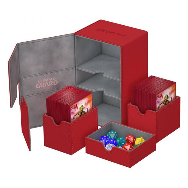 Ultimate-Guard-twin-flip-n-tray-160-xenoskin-red