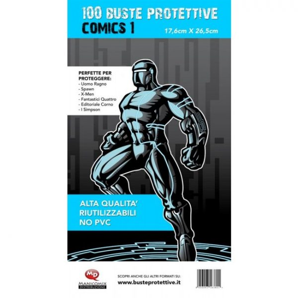 100-buste-protettive-comics-1-17.6x26.5